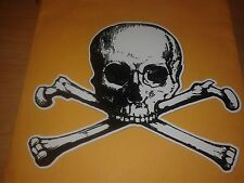 Skull & Cross Bones - Poison Danger Pirate Car Auto Window Vinyl Decal Sticker