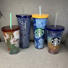 NEW Starbucks 2019 Summer Tumbler Lot Cold Cup Collection Of 4 Read Description