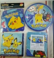 Pokemon Birthday Party Kit Decorations Supplies Set Plates Table Cover Pikachu