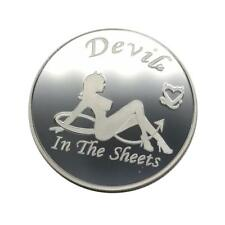 Sexy Girl Angel Devil In the Sheets lovers interest Funny Games Adult Token Coin