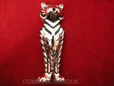 "Broche ""Sarcophage Chat"" argentée Momie Egypte Antique - Bijoux Vintage Sphinx"