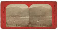 D. Barnum Panoramic Stereoview - Thurman Station, Adirondac Mts. NY