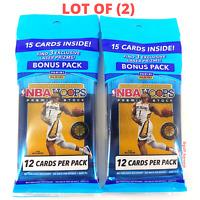 Lot of (2) 2019-20 Panini NBA Hoops Premium Stock Cello Bonus Packs, NEW/SEALED