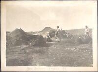 Bengasi Libia Tende Beduine 1914 fotografia 17X12 cm circa