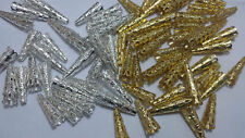 50 x Silver Gold Plated Filigree Bead caps Cones Nail Spacers Jewellery Findings