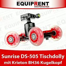 Sunrise DS-505 Table Glider Dolly + BH36 Kugelkopf (Ready 2 Roll Kit) EQ599