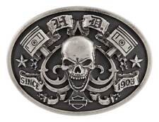Harley-Davidson Men's Ace of Spades Antique Nickel Belt Buckle HDMBU11221