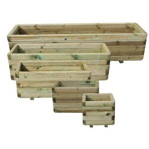 Hannes - Fioriera in legno massello, disponbile in misure diverse