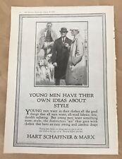 Hart Schaffner & Marx print ad 1924 vintage illus retro art clothes young men