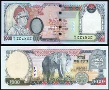 Nepal 1000 rupees 2002 King Gyanendra & Elephant P51(1) Short Signature 15 UNC