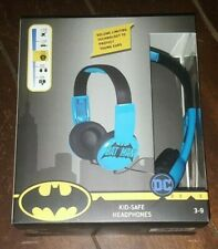 DC BATMAN Kid Safe Headphones with Volume Limiting Technology! HP2-03082