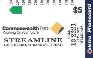 TELSTRA $5 COMMONWEALTH BANK MINT RARE RARE PERFECT    G5