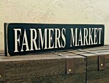Farmers Market Sign Large Rustic Wooden Home Kitchen Vintage Free Standing Gift