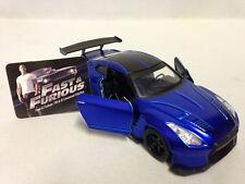 "FAST FURIOUS 7 BRIAN'S 2009 NISSAN GT-R (R35) 5.5"" DIECAST 1:32 JADA TOY BLUE"
