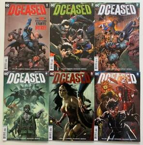DCeased #1 to #6 complete series (DC 2019) VF/NM & NM condition issues.