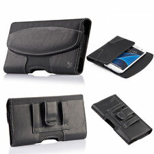 Luxmo Leather Cell Phone Case Cover Carrying Pouch Holder Belt Clip Holster
