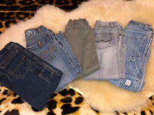 Boys Size 6 Jeans Pants Lot Of 5, Gap, French Toast, Green Dog