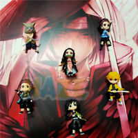 6pcs Demon Slayer Kimetsu no Yaiba 3D Imán de nevera Figura Decoración