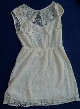 Vestido encaje blanco Zara talla S dress