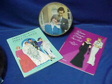 NEW Princess DIANA & Prince CHARLES Paper Dolls Books TIERNEY Miller Plus TIN