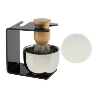 Salon Shaving Brush Soap Mug Bowl Soap Set Shave Razor Holder Stand for Men