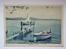 BRACCIANO il lago barca vela animata Roma vecchia cartolina