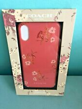Coach iPhone X / XS Case with Floral Bow Print Coral Multi 59367