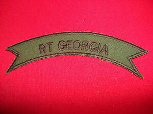 5th SFGrp MACV-SOG RT GEORGIA CCN Vietnam War Subdued Scroll Patch