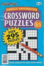 PennyPress Family Favorites Crossword Puzzles 2019 #65 UNUSED