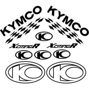 SET COMPLETO ADESIVI NERO KYMCO XCITING 250 500 300 I R DECALS STICKERS 50 X 50