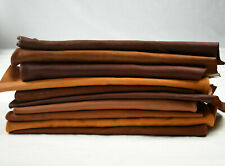 Earth tone Cowhide Scraps - Upholstery offcuts   FULL & TOP GRAIN
