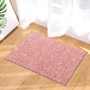 "Shining Pink Bathmat Bathroom Rug Non-Slip Outdoor Frontdoor Mats 16x24"""