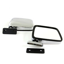 FIT 60-86 DATSUN NISSAN 720 PICKUP TRUCK NEW DOOR MIRRORS LEFT RIGHT CHROME PAIR