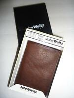 John Weitz Genuine Leather Trifold Wallet, Brown