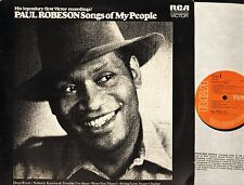 PAUL ROBESON songs of my people LS 3097 A2E/B2E uk rca 1972 LP PS EX/EX