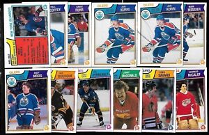 1983-84 OPC 83-84 O PEE CHEE NHL HOCKEY CARD & ERROR VARIATION 1-132 SEE LIST