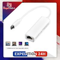 Adaptateur externe USB type C Ethernet Carte réseau 10/100Mbps RJ45 Lan MacBook