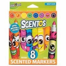 Scentos Funny Face Markers 8pk Fragrance Fruit Flavour Pens for kids