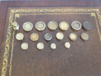 Vintage Brass Imperial Weights For kitchen Scales etc. 7x2oz,6x1oz,4x1/2oz