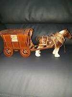 "Large vintage Beswick Gypsy traveller caravan ans shire horse 19"" original"
