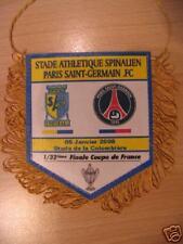 Fanion 10 * 8 CM SAS.EPINAL / PSG PARIS SAINT-GERMAIN 1/32 COUPE DE FRANCE 2008