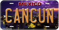 Cancun Mexico Aluminum Novelty Auto Car License Plate