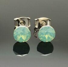 Opal Green Swarovski Crystal Studs Earring Diamante 6mm Single Wedding Formal