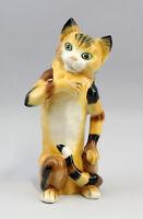 9941109 Porzellan Figur Gestreifte Katze Ens H28cm