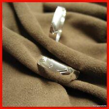 1 Paar Eheringe, Trauringe mit 1 Brillant aus 925er Silber, NEU, HH-857_4_F_B