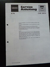 Original Service Manual  Grundig CNF 350b
