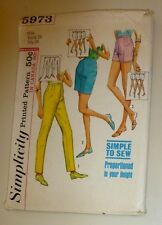Simplicity Pattern 5973 Misses  1965 Waist 25 Hip 34  Proportion to Height