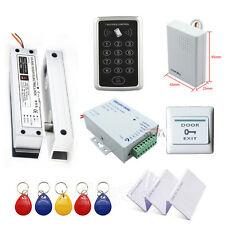 RFID Access Control System Kit Frameless Glass Door Set+Eletric Bolt Lock+ID Car