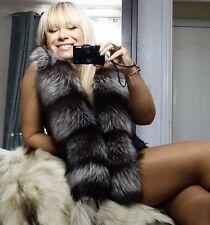 NUOVO! D'ARGENTO SAGA Fox Fur Stola Sciarpa Collo Avvolgere XL lunghe UNISEX