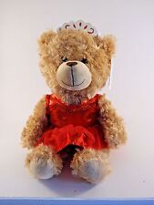 19 Inch Plush Brown Ballerina Bear Red Tutu Crown Christmas Toy Valentine Gift